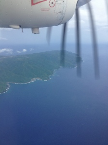Flying over American Samoa
